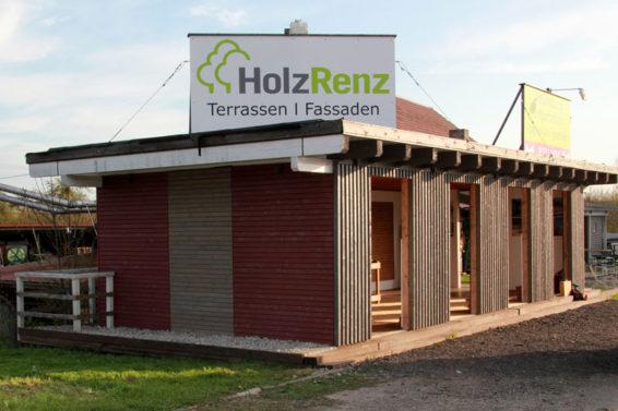 Holz Ausstellung Terrasse Fassade