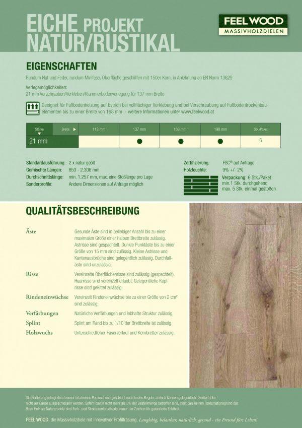 Feelwood Eiche Projekt