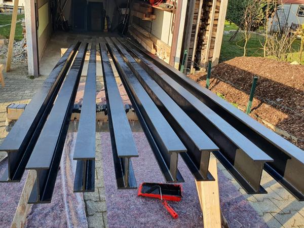 Stahlunterkonstruktion für Terrasse