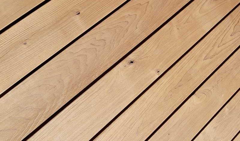 Terrassenholz testen - Thermo-Erle