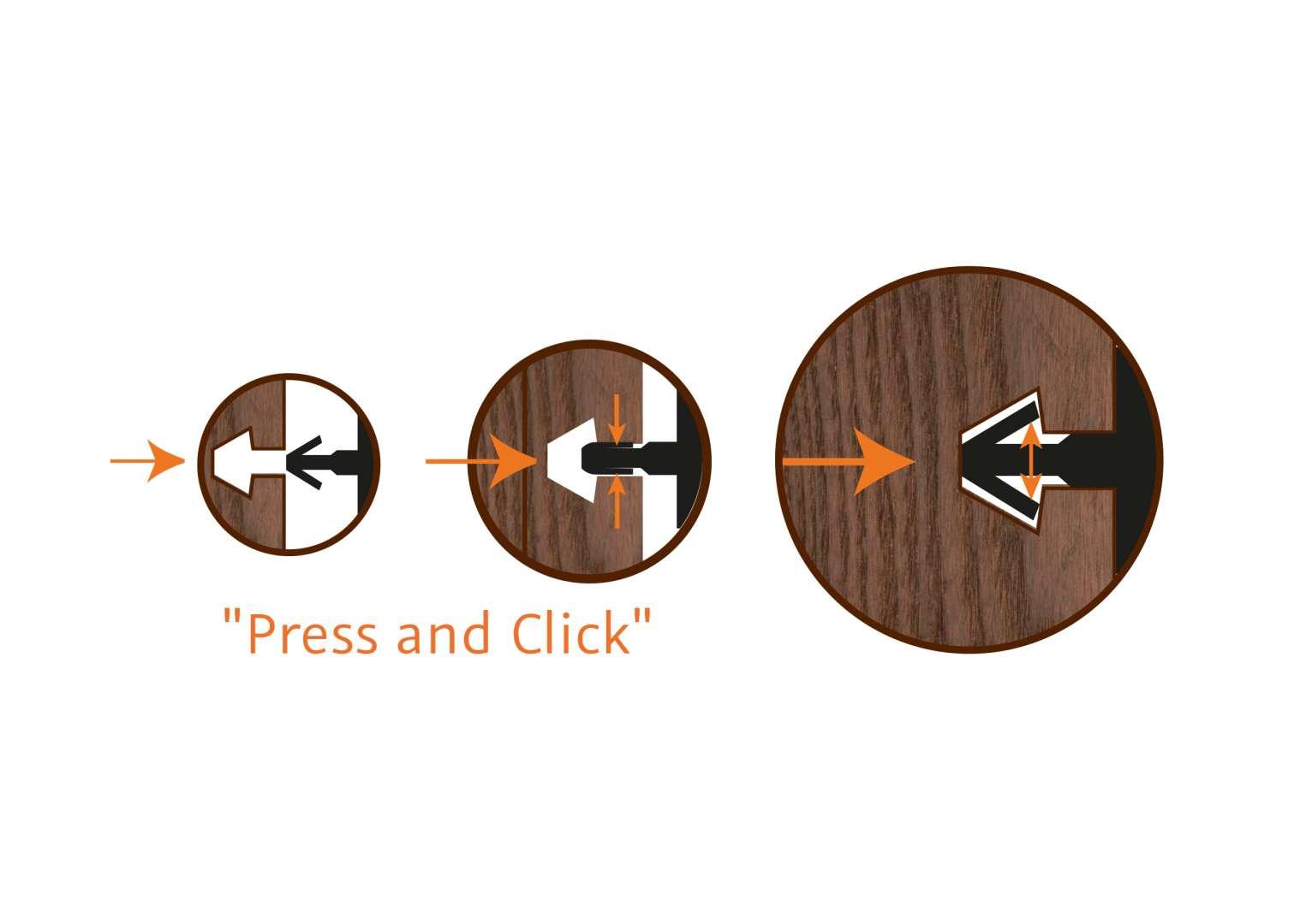 Press and Click - Fassadensystem